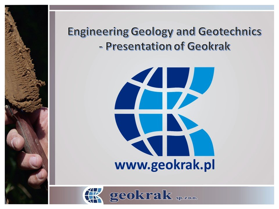 Engineering Geology and Geotechnics - Presentation of Geokrak